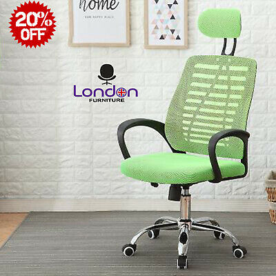 AU72.04 • Buy Ergonomic Mesh Office Chair Adjustable Swivel Executive High Back PC Desk Chair