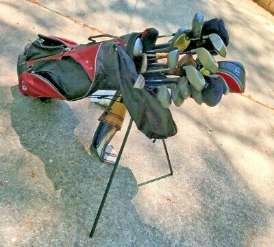 AU643.94 • Buy Lot Of Golf Equipment, Standing Bag, 26 Clubs, Balls, Tees, Ball Shag, Scoop..