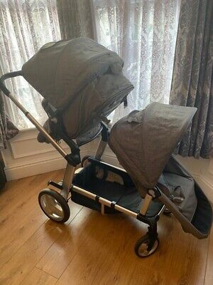 £149.99 • Buy Mother Care Genie Single Pram And Double Pram With Second Seat And Extras