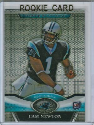 CAM NEWTON ROOKIE CARD 2011 Topps Platinum RARE X-FRACTOR $$ RC Football PATRIOT • 25£