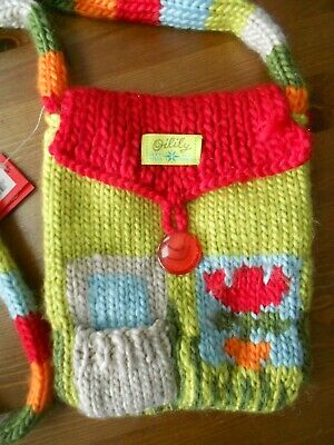 £15 • Buy Girls Knitted Colourful Cross Over Body Bag By Oilily Brand New With Tag