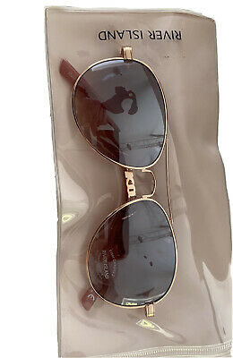 £10.99 • Buy River Island Rose Gold Pink Lens Chain Sunglasses