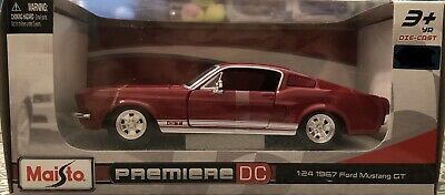 $21 • Buy Maisto 1967 Ford Mustang GT Premiere DC Die Cast Car 1:24 Brand New