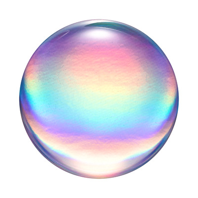 AU14.95 • Buy PopSockets PopGrip: Swappable Grip For Phones & Tablets - Rainbow Orb Gloss