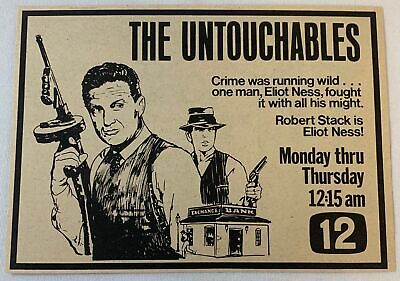 £5.29 • Buy 1975 Tv Show Ad ~ THE UNTOUCHABLES On Channel 12