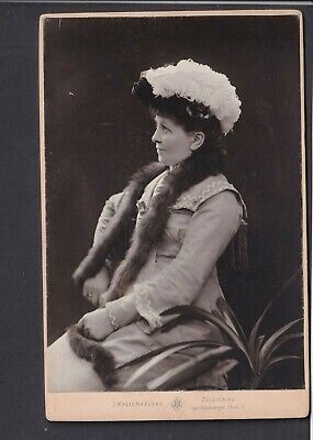 Victorian Cabinet Card - Lady - Photo J.Kaltenhauser, Germany/Poland Sulechow • 3£