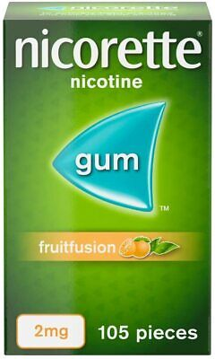 $ CDN24.98 • Buy Nicorette Fruitfusion Flavour 2mg Gum Nicotine Stop Quit Smoking 105 Pieces NEW