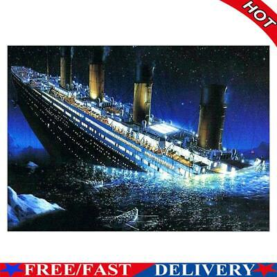 AU10.78 • Buy DIY Full Drill Diamond Painting Titanic Cross Stitch Embroidery Mosaic Kit