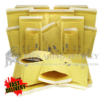 £4.35 • Buy Arofol Genuine Gold Bubble Padded Envelopes Mailers Bags *all Sizes / Qty's*