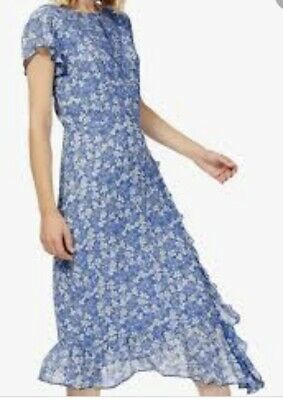 Brora Ladies Silk Floral Midi Dress Size 14 Perfect Condition Worn Once • 70£