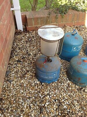 Large Gas Lantern With 1x FULL Camping Gaz Bottle And Mantel • 10£