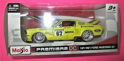 $29.95 • Buy Maisto Premiere DC 1967 Ford Mustang GT 1:24 Scale Yellow Maisto Racing Car