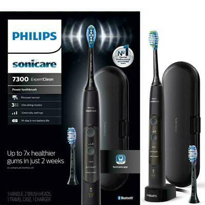 AU114.76 • Buy Philips Sonicare Expertclean 7300 Electric Toothbrush Black NEW IN BOX