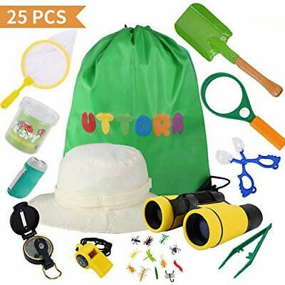 £20.96 • Buy UTTORA Outdoor Explorer Kit Kids Toys,25 Pieces Birthday Present For 8+ Years