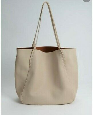 £18 • Buy Oasis Over Sized Soft Faux Leather Tote Bag Cream RRP £35