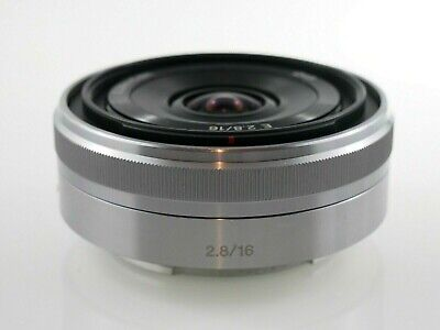 AU189 • Buy Sony SEL E-Mount 16 Mm F/2.8 Lens For E-Mount - Silver