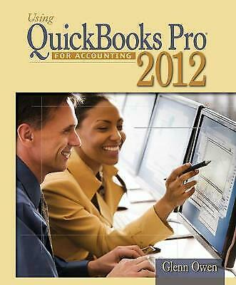 £71 • Buy  Using Quickbooks Accountant 2012 For Accounting (with Data File CD-ROM), Glenn