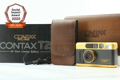$ CDN2365.63 • Buy [Near Mint In Box] CONTAX T2 60years Gold Point & Shoot Film Camera From JAPAN