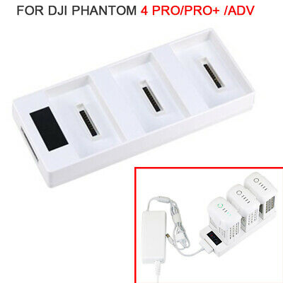 AU27.99 • Buy 3 Slots Multi Battery Charger Charging Dock Hub For DJI Phantom 4 Pro/Adv/Pro+
