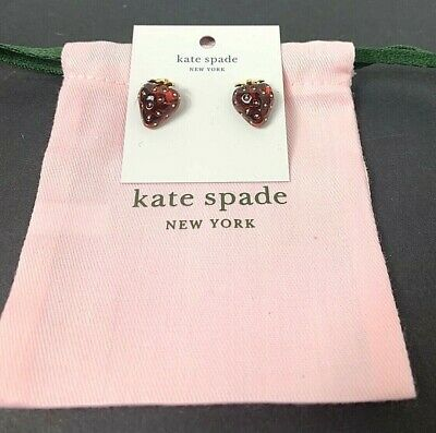$ CDN52 • Buy Kate Spade Summer Picnic Perfect Strawberry Resin Stud Earrings Red New