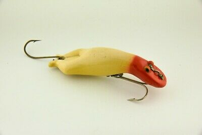 $ CDN429.27 • Buy Vintage Scarce Heddon Red & White Luny Frog Minnow Antique Fishing Lure JJ1