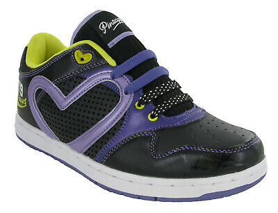 £19.95 • Buy Pineapple Girls JUMPIN' Lace Up Trainers Black/Lilac/Yellow Dance Shoes UK3