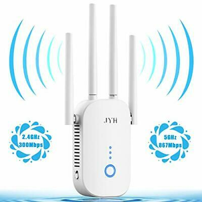 AU60.17 • Buy  1200Mbps WiFi Extender, 2.4 & 5GHz Dual Band WiFi Booster With Ethernet White