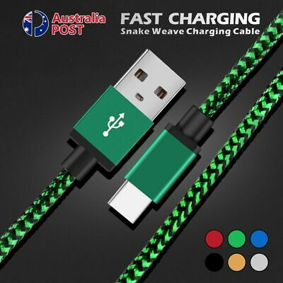AU5.75 • Buy Type-C Braided Charging Charger Cord USB C Data Sync Cable For Samsung Galaxy