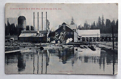 $8.99 • Buy Diamond Match Co's Saw Mill At Stirling City, CAL RPPC Real Photo Postcard;J892
