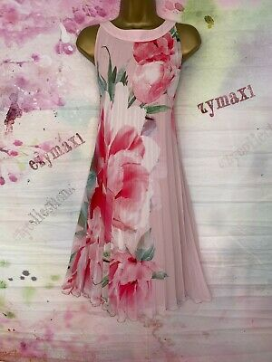 AU13.90 • Buy Bnwt Debut Pale Pink Peony Pleated Swing Floral Dress Size 16