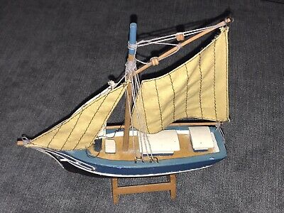AU1.76 • Buy Really Nice Wooden Fishing / Sailing Boat Model On A Display Base