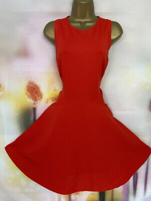 AU13.90 • Buy Stunning Ted Baker 'hearn' Red Stretchy Skater Fit & Flare Dress Size 3 Uk 12