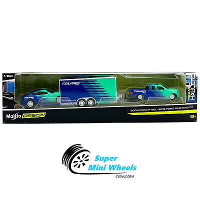 $12.99 • Buy Maisto 1:64 Design 2015 Ford Mustang GT Falken With Ford F-150 Enclosed Trailer
