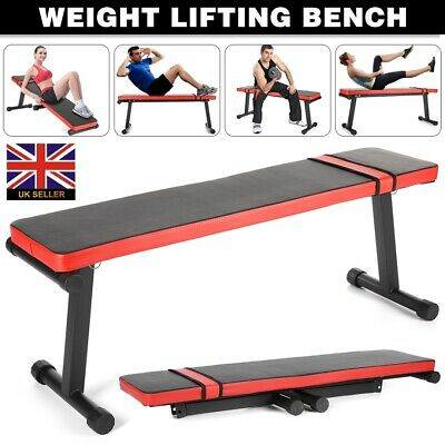 £51.99 • Buy Folding Flat Weight Lifting Bench Body Workout Exercise Home Gym Fitness Benches