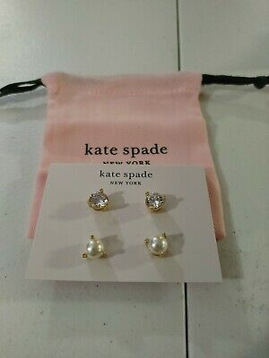 $ CDN13.91 • Buy Kate Spade New York Rise And Shine Set Of 2 Stud Earrings W/ Pouch
