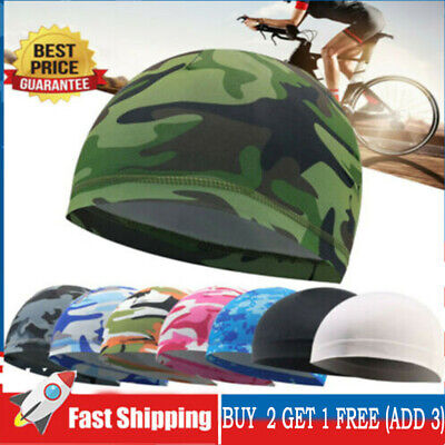 £3.21 • Buy Cycling Skull Cap Quick Drying Hat Motorcycle Helmet Liner Breathable Sun Hat^