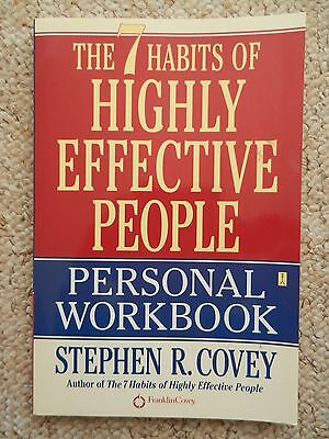 AU6.22 • Buy 7 Habits Of Highly Effective People Personal Workbook Covey Life Path Goals Help