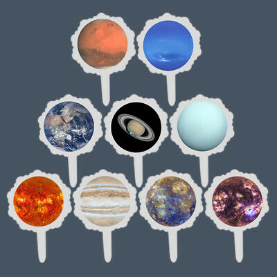 $ CDN5.86 • Buy Pack Of Solar System Picks Fun Cupcake Toppers For Birthday Party Dinner