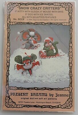 £4.50 • Buy Snow Crazy Critters Pattern By Present Dreams Pattern Co.