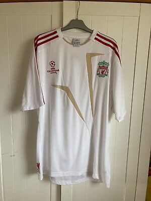 Adidas White Liverpool T Shirt Top Sz L • 15£