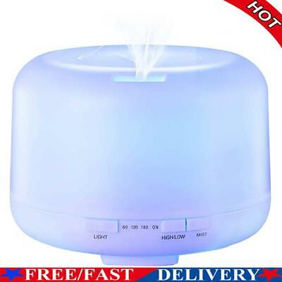AU24.98 • Buy 500ml Ultrasonic Air Humidifier Essential Oil Aromatherapy Diffuser W/Lamp