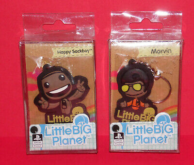 £9.99 • Buy LITTLE BIG PLANET * 2 Collectable Keyrings * Happy Sackboy & Marvin * Sony * New