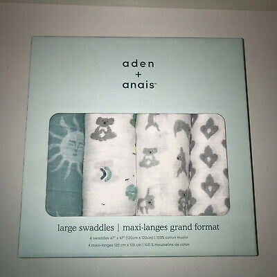 £23.99 • Buy Aden And Anais Large Swaddles - NEW