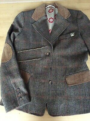 Ringspun Loves Rosy Cheeks Womens Tweed Jacket. Size 12 • 8£
