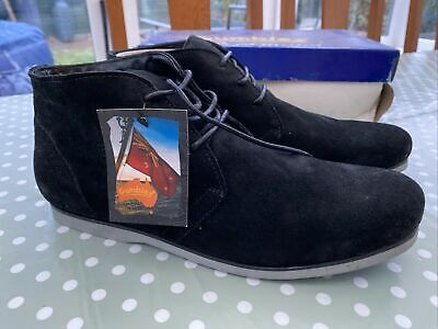 £20 • Buy Gumbies «dock Mate» Black Suede Desert Boots Size 46 12 Tried On Once ⚓️
