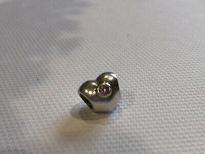 Pandora S925 Charm - Heart With Pink Cubic Zirconia - 790134PCZ Retired • 9£
