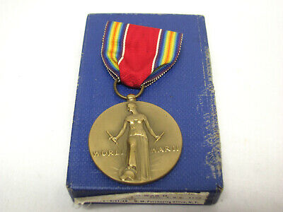 £12.78 • Buy Vintage WWII US CAMPAIGN And SERVICE VICTORY Liberty 1941-1945 Medal +Box!