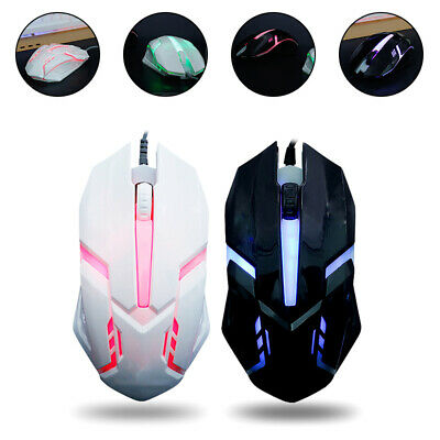 AU10.69 • Buy ✅LED Wired Gaming Mouse USB Ergonomic Optical For PC Laptop Rechargeable AU