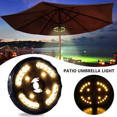 AU24.09 • Buy ✅24 LED Patio Umbrella Parasol Lights 3 Brightness Mode Outdoor Camping Lamps