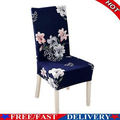 AU9.80 • Buy Spandex Chair Cover Lily Printed Stretch Home Office Hotel Seat Case (1pc)